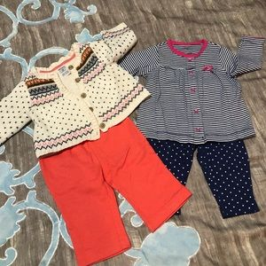 2 Carter outfits.